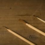 蒔絵で粉を蒔くときに使うあしらい毛棒