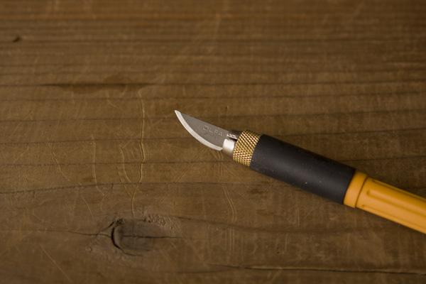 パテ、刻苧削りに使う刃物