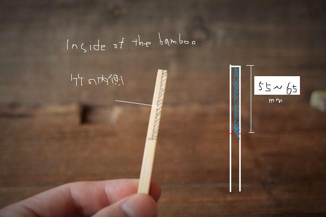 金継ぎで使う竹へらの作り方