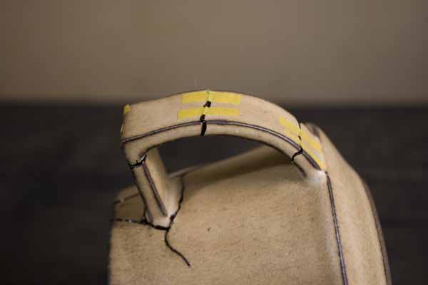 金継ぎの方法。取っ手部分はマスキングテープを利用する