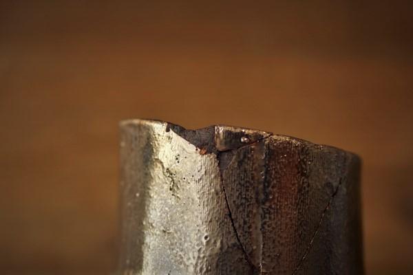 金継ぎ修理の方法。刻苧埋め。