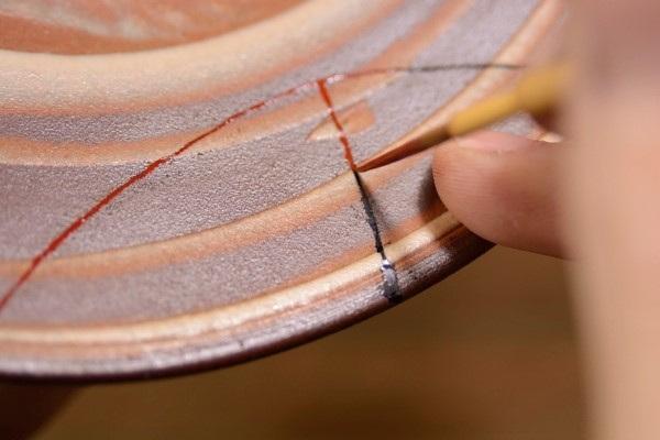 金継ぎの工程 漆の塗り方