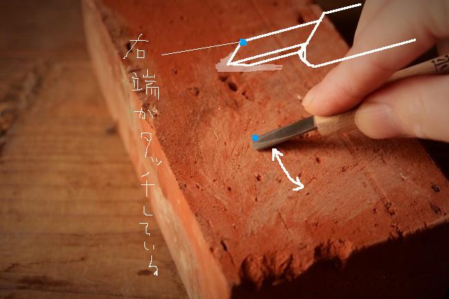 金継ぎの錆漆を削るのに使う彫刻刀を研ぐ
