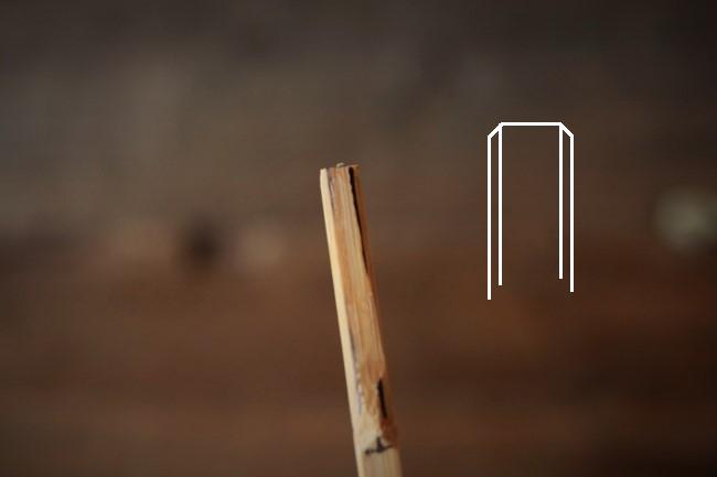 へらになる竹串の先が薄くなってきた