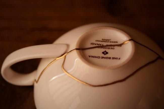 柳宗理のティーカップの金継ぎ修理が完成