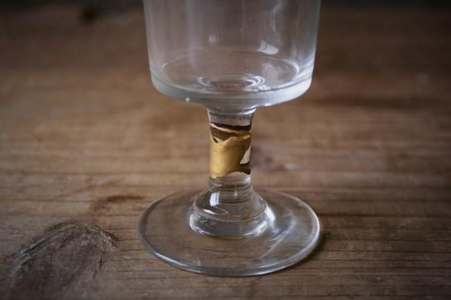 ガラスの金継ぎ修理が完成