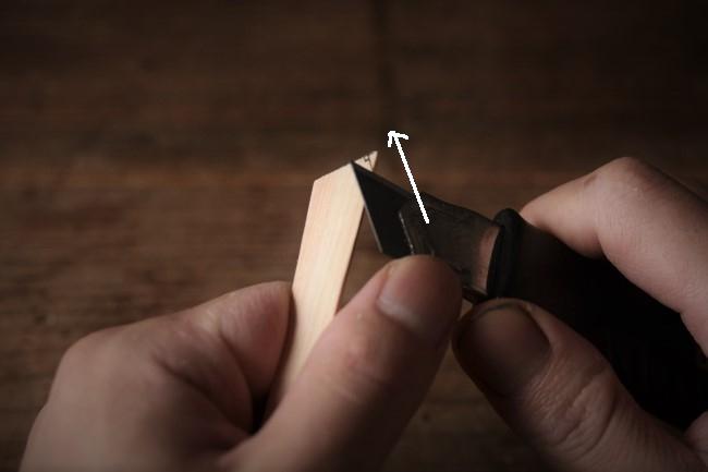 金継ぎで使う檜箆の作り方