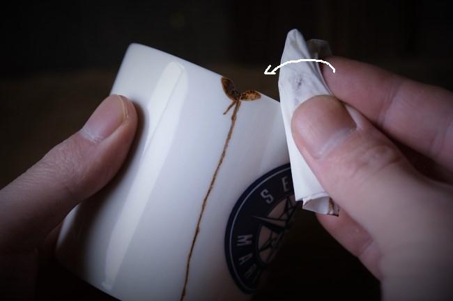 ひびの入ったマグカップの金継ぎのやり方