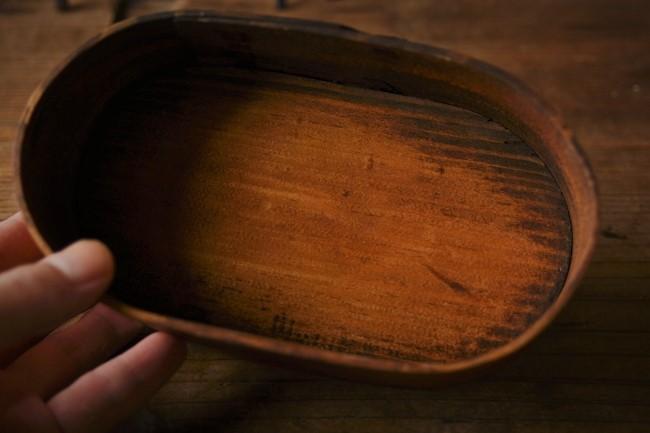 木のわっぱに生えたカビを拭き漆で隠す方法