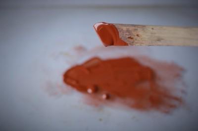 生漆から弁柄漆を自分で作る