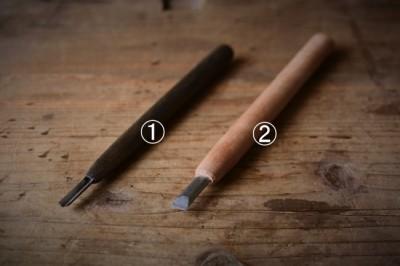 薬研彫りで使う彫刻刀