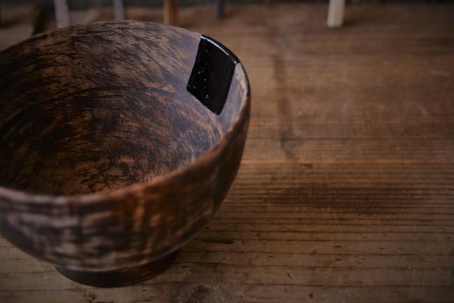 ひびの入った木の器の金継ぎ修理方法