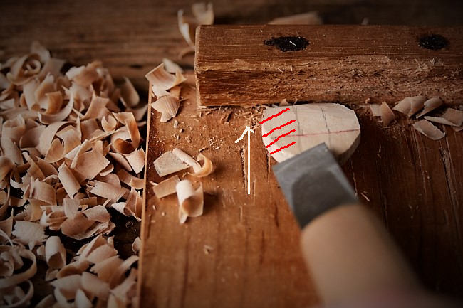 木材でスッカラ風のスプーンの作り方