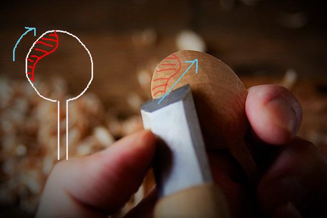 スッカラ風の木のスプーンの作り方