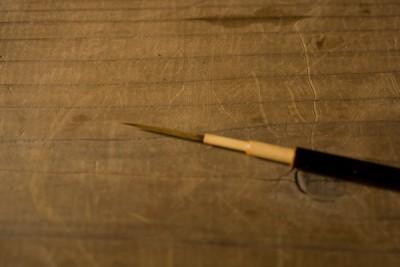 漆を塗るときに使う筆
