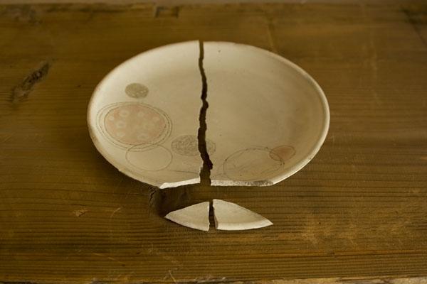 割れたお皿の金継ぎ修理