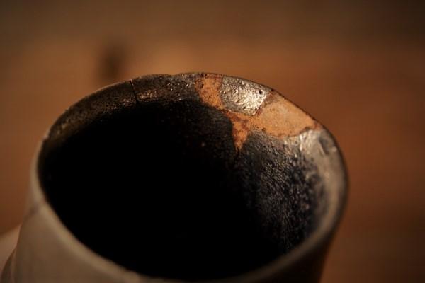 金継ぎの修理方法。刻苧の削り作業の終了。