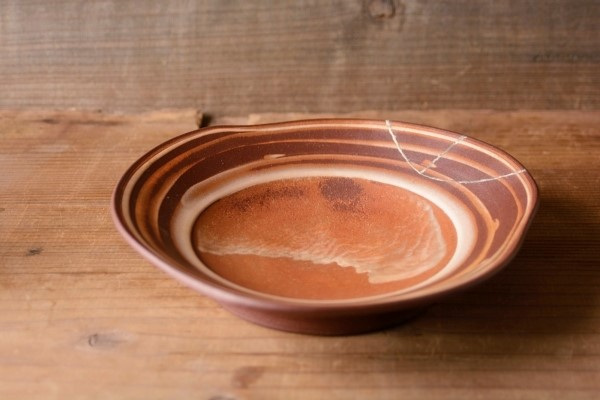 平皿の金継ぎ終了。器の表側