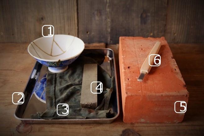 錆漆を削るときに使う彫刻刀をカスタマイズするのに使う道具と材料