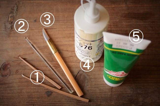 金継ぎの蒔絵紛磨き作業で使う道具と材料の価格とお店