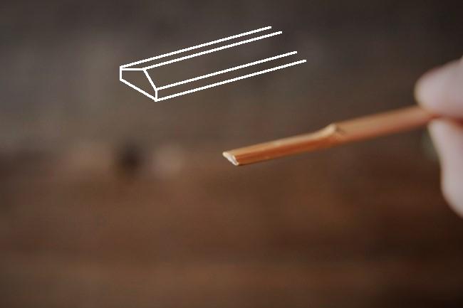 へらにする竹串の加工