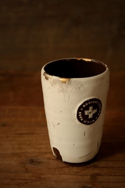 内田剛一さんのカップの簡単な金継ぎ修理が完了