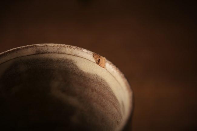 欠けたカップの金継ぎ修理前