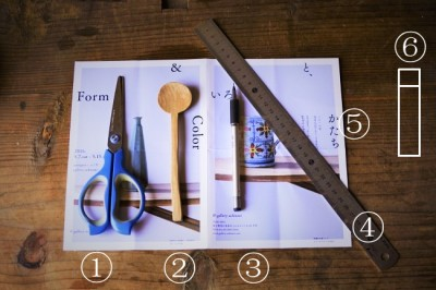 封筒を作るときに必要な道具と材料