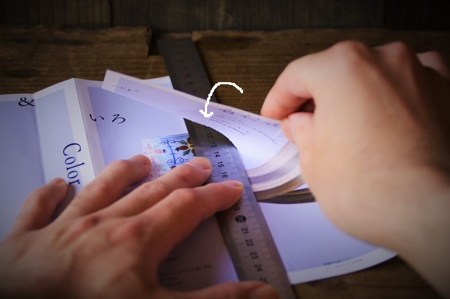 木のスプーンを贈るための封筒の作り方