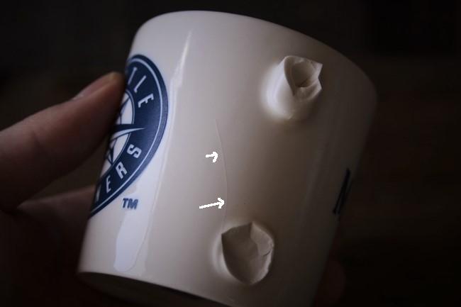 取っ手の壊れたマグカップを金継ぎ修理する
