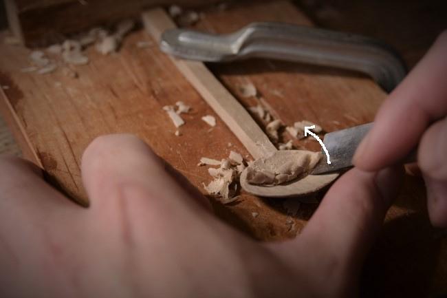 木のスプーンの作り方