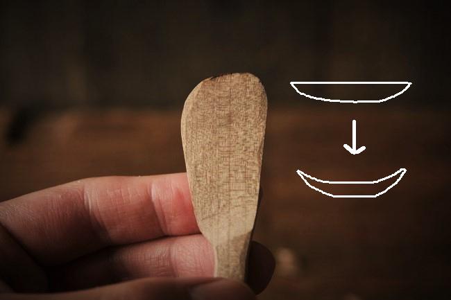 アイスクリーム用の木のスプーンの作り方