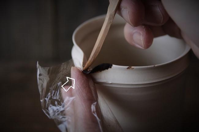 岡田直人のピッチャーの金繕い修理のやり方